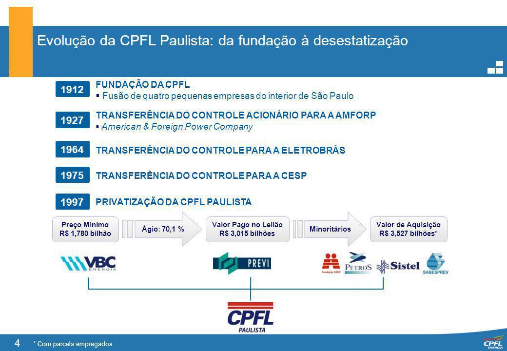 Evolução da CPFL Paulista: da fundação à desestatização