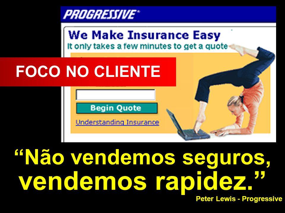 Não vendemos seguros, vendemos rapidez.