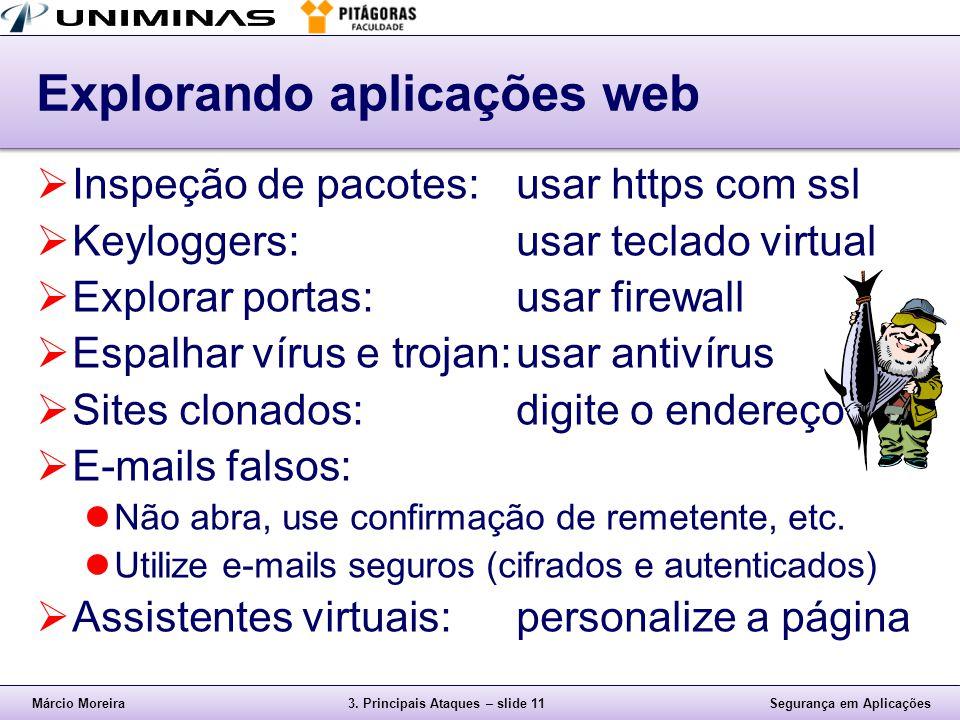 Explorando aplicações web