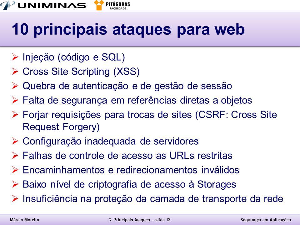 10 principais ataques para web