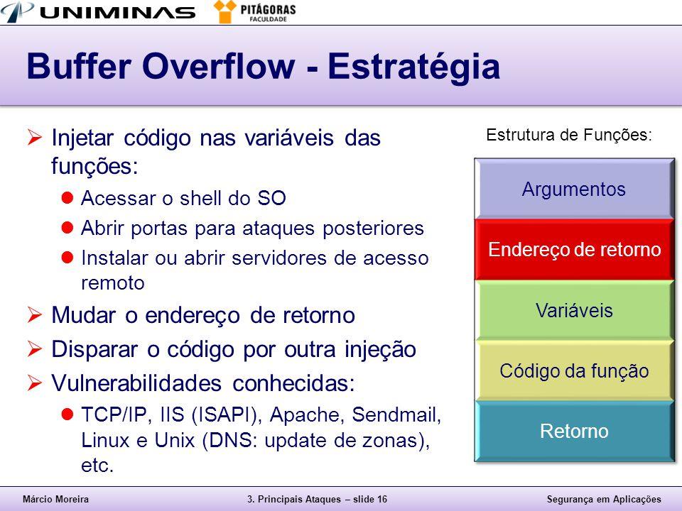 Buffer Overflow - Estratégia