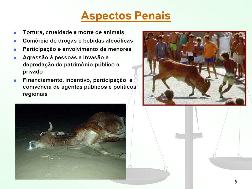 Aspectos Penais Tortura, crueldade e morte de animais