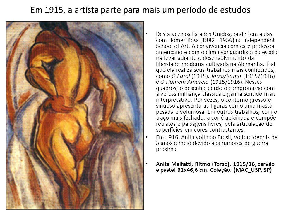 Em 1915, a artista parte para mais um período de estudos