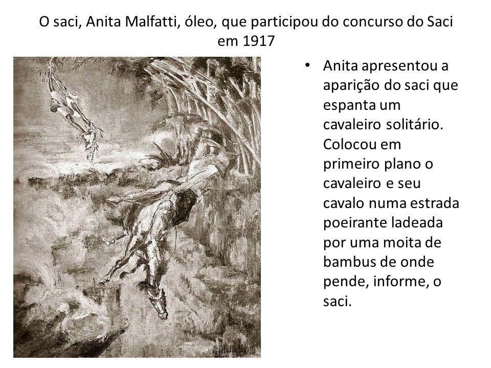 O saci, Anita Malfatti, óleo, que participou do concurso do Saci em 1917