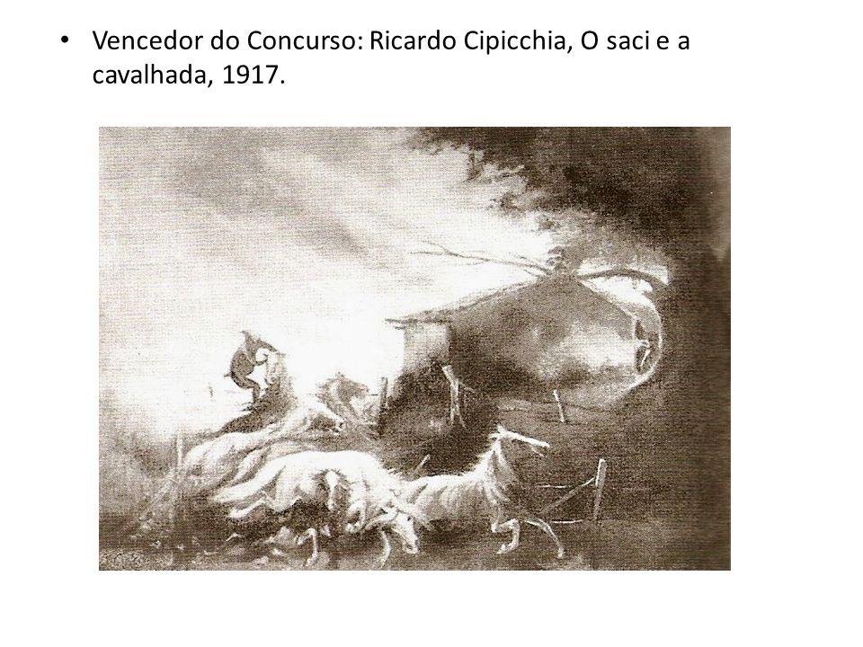 Vencedor do Concurso: Ricardo Cipicchia, O saci e a cavalhada, 1917.