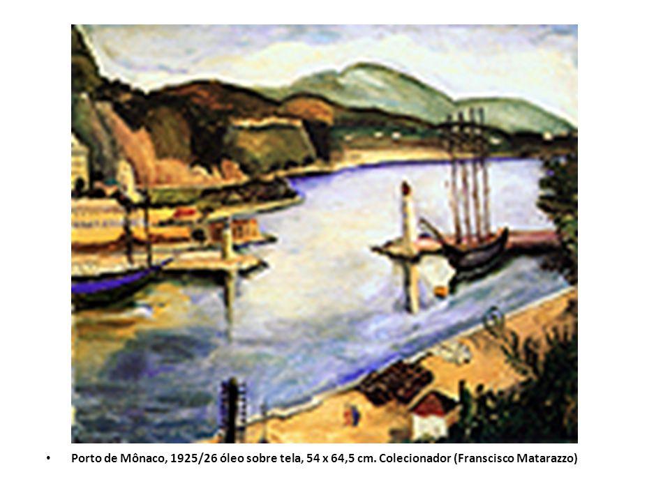Porto de Mônaco, 1925/26 óleo sobre tela, 54 x 64,5 cm