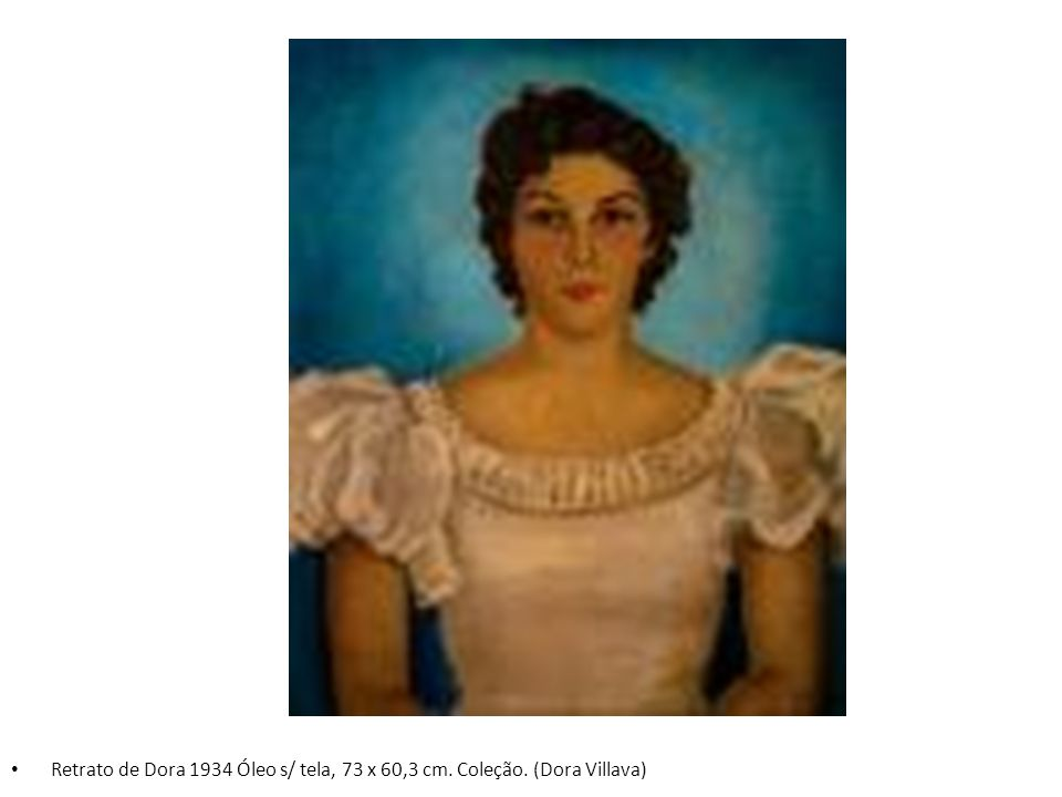 Retrato de Dora 1934 Óleo s/ tela, 73 x 60,3 cm. Coleção