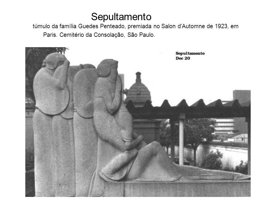 Sepultamento túmulo da família Guedes Penteado, premiada no Salon d Automne de 1923, em Paris.