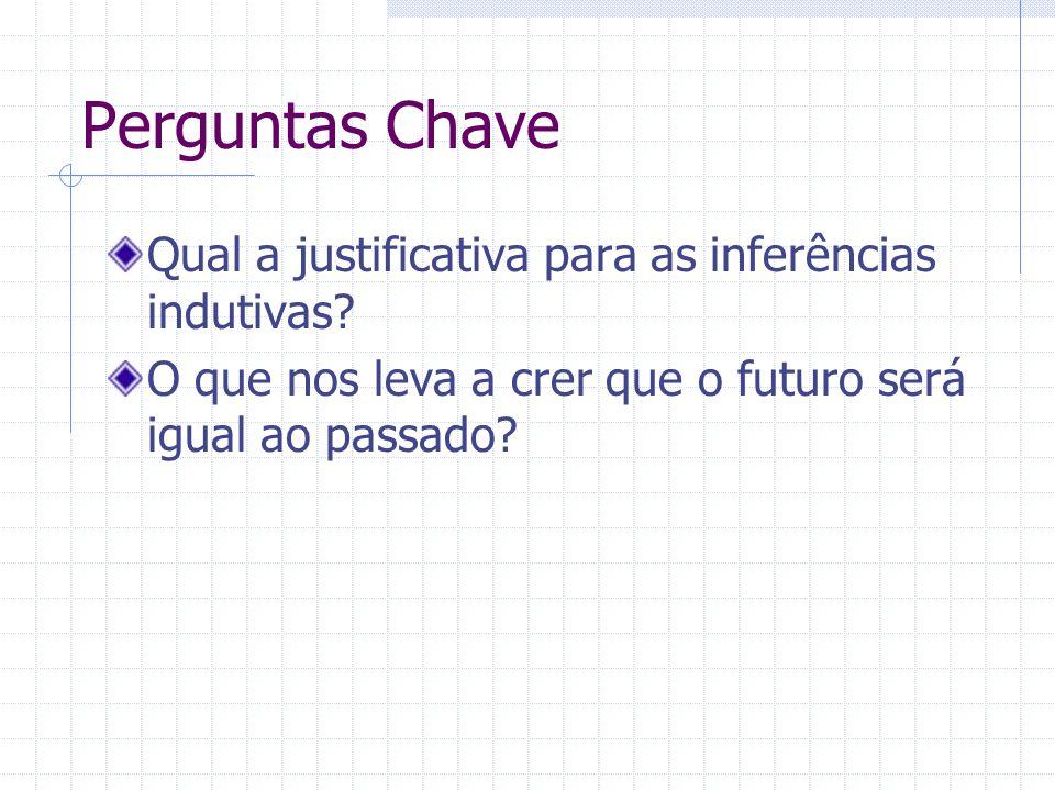 Perguntas Chave Qual a justificativa para as inferências indutivas