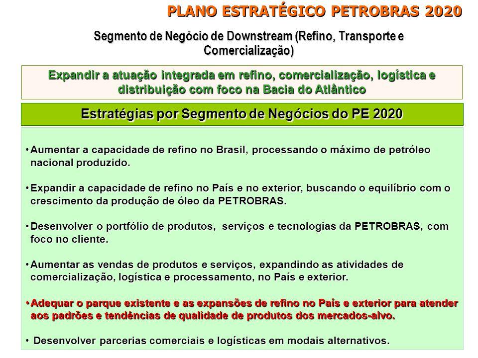 Estratégias por Segmento de Negócios do PE 2020