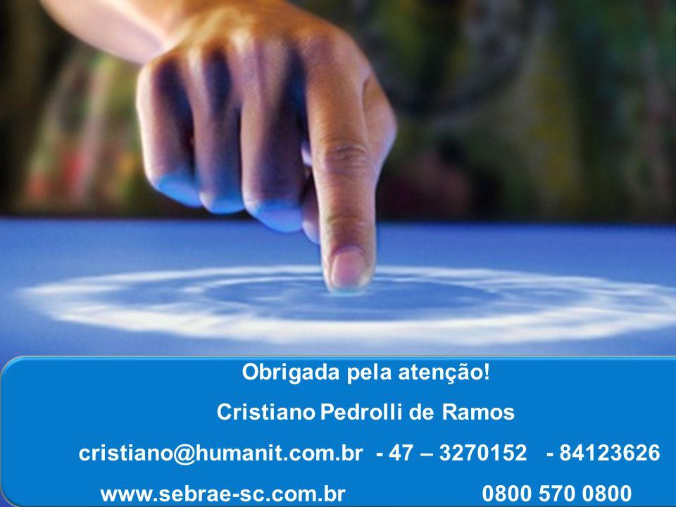 0800 570 0800 Obrigada pela atenção! Cristiano Pedrolli de Ramos