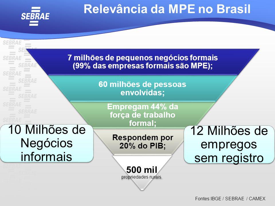 Relevância da MPE no Brasil