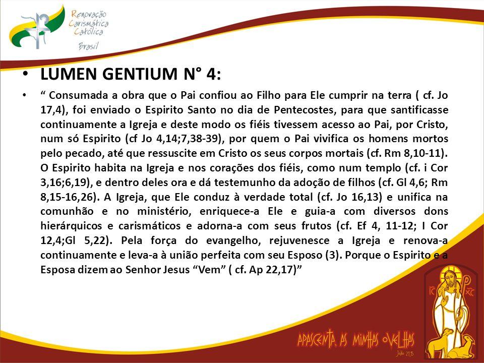 LUMEN GENTIUM N° 4:
