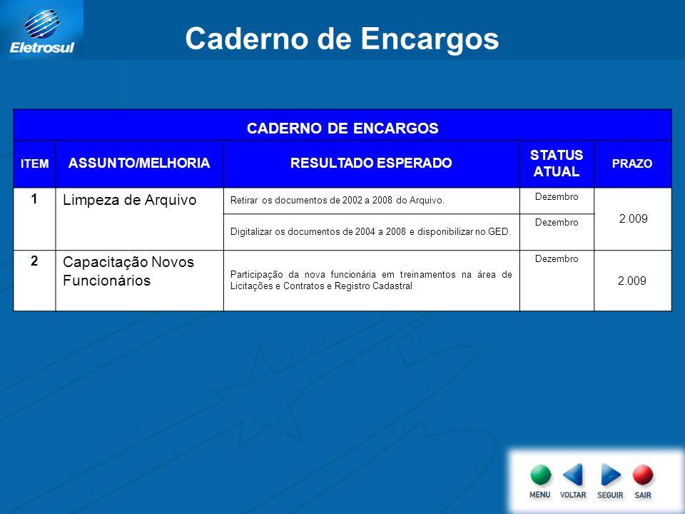 Caderno de Encargos CADERNO DE ENCARGOS Limpeza de Arquivo