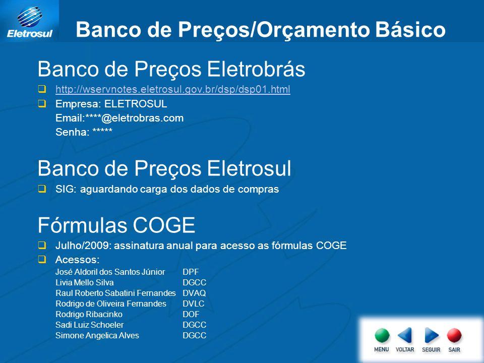 Banco de Preços/Orçamento Básico