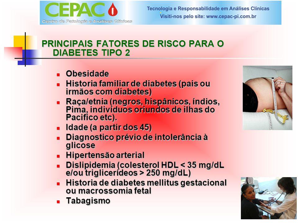PRINCIPAIS FATORES DE RISCO PARA O DIABETES TIPO 2