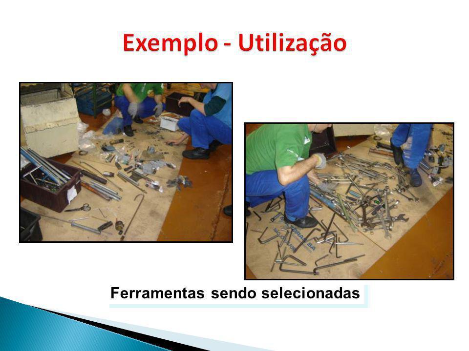 Exemplo - Utilização Ferramentas sendo selecionadas