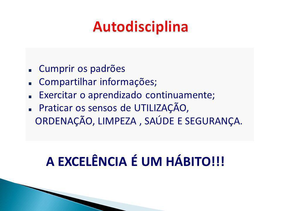 Autodisciplina A EXCELÊNCIA É UM HÁBITO!!! Cumprir os padrões