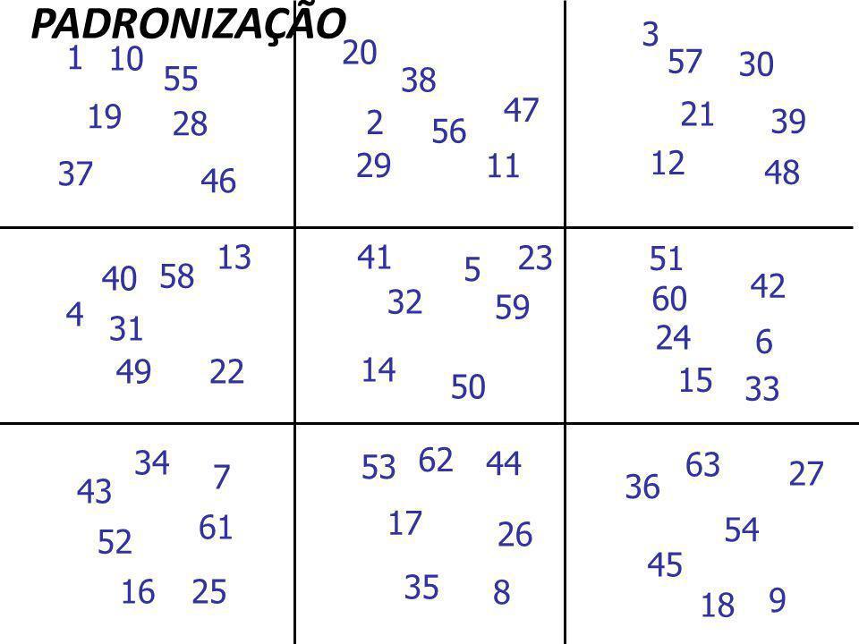 PADRONIZAÇÃO 3. 20. 1. 10. 57. 30. 55. 38. 47. 19. 21. 28. 2. 39. 56. 29. 11. 12. 37.