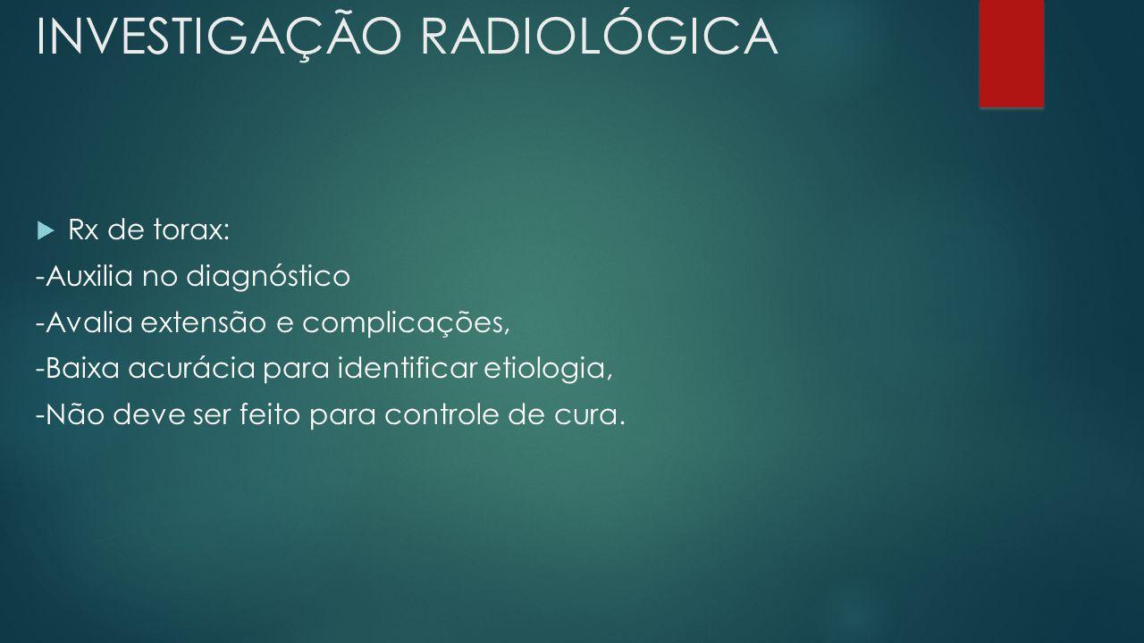 INVESTIGAÇÃO RADIOLÓGICA