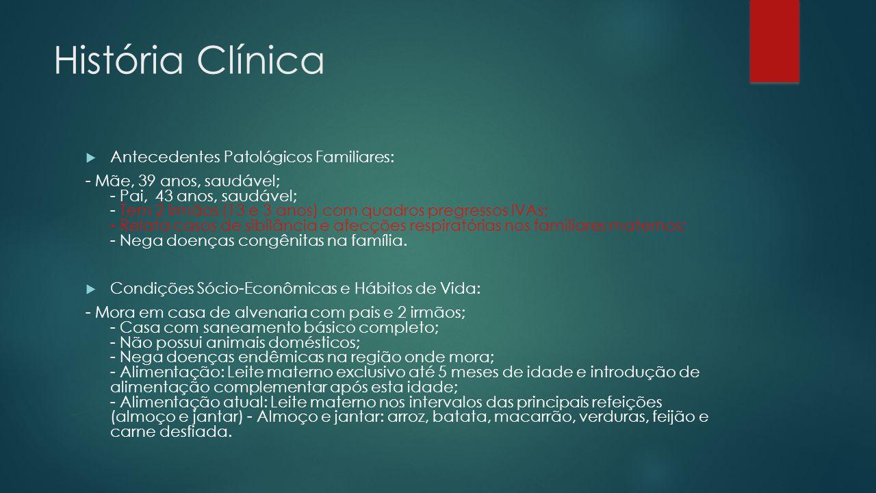História Clínica Antecedentes Patológicos Familiares: