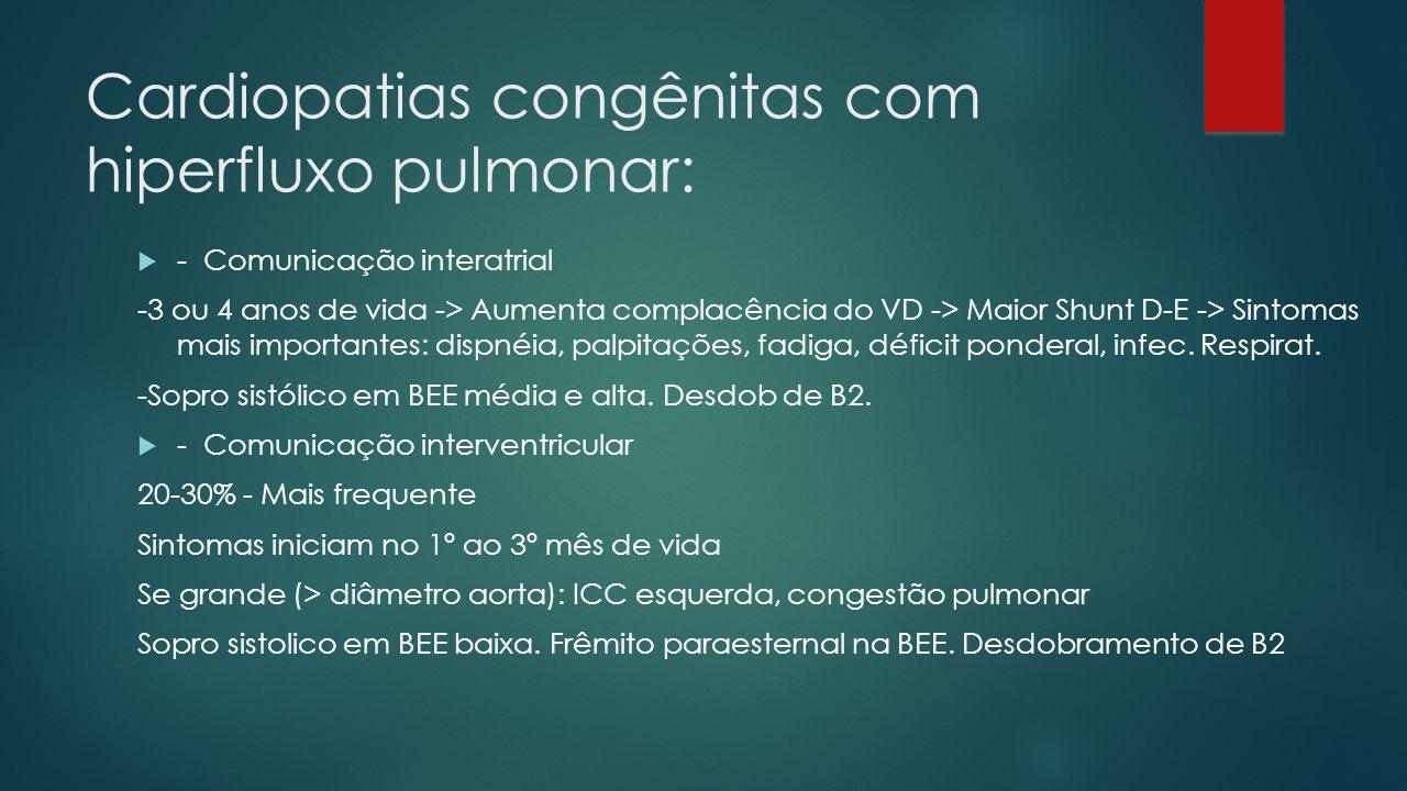Cardiopatias congênitas com hiperfluxo pulmonar: