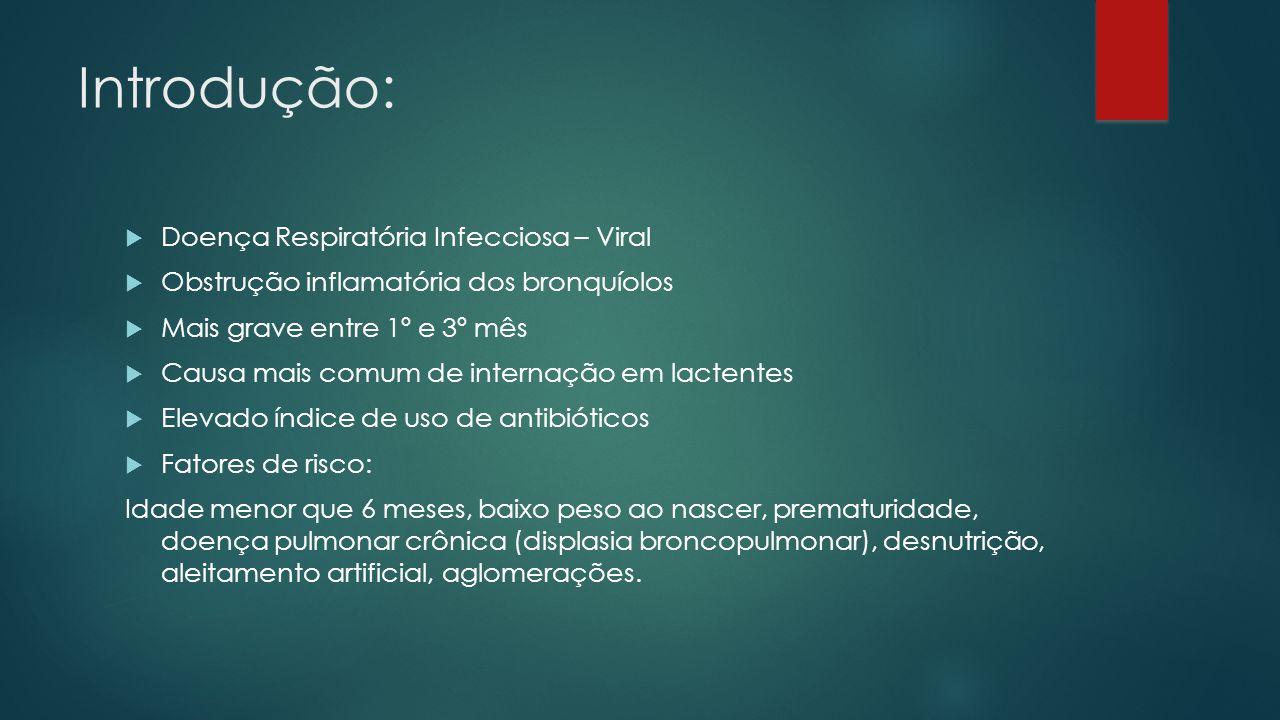 Introdução: Doença Respiratória Infecciosa – Viral
