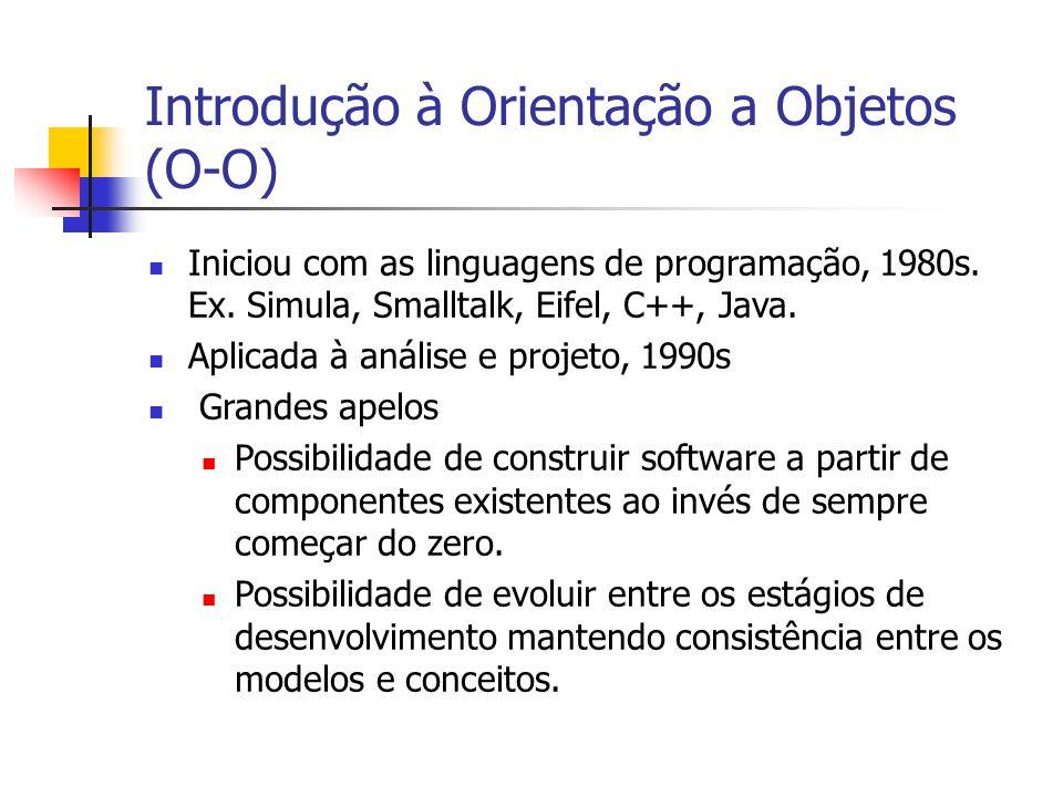 Introdução à Orientação a Objetos (O-O)