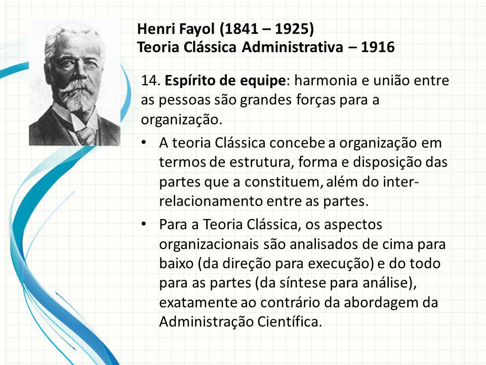 Teoria Clássica Administrativa – 1916