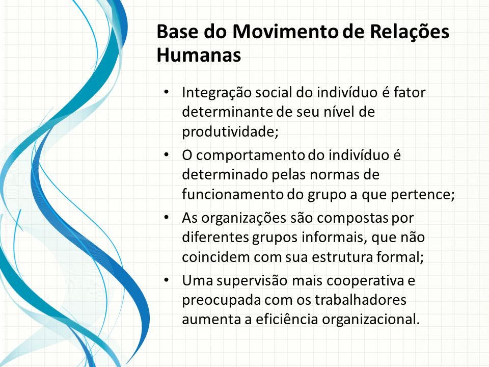 Base do Movimento de Relações Humanas