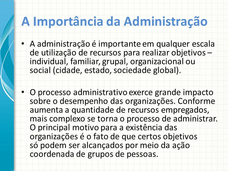 A Importância da Administração