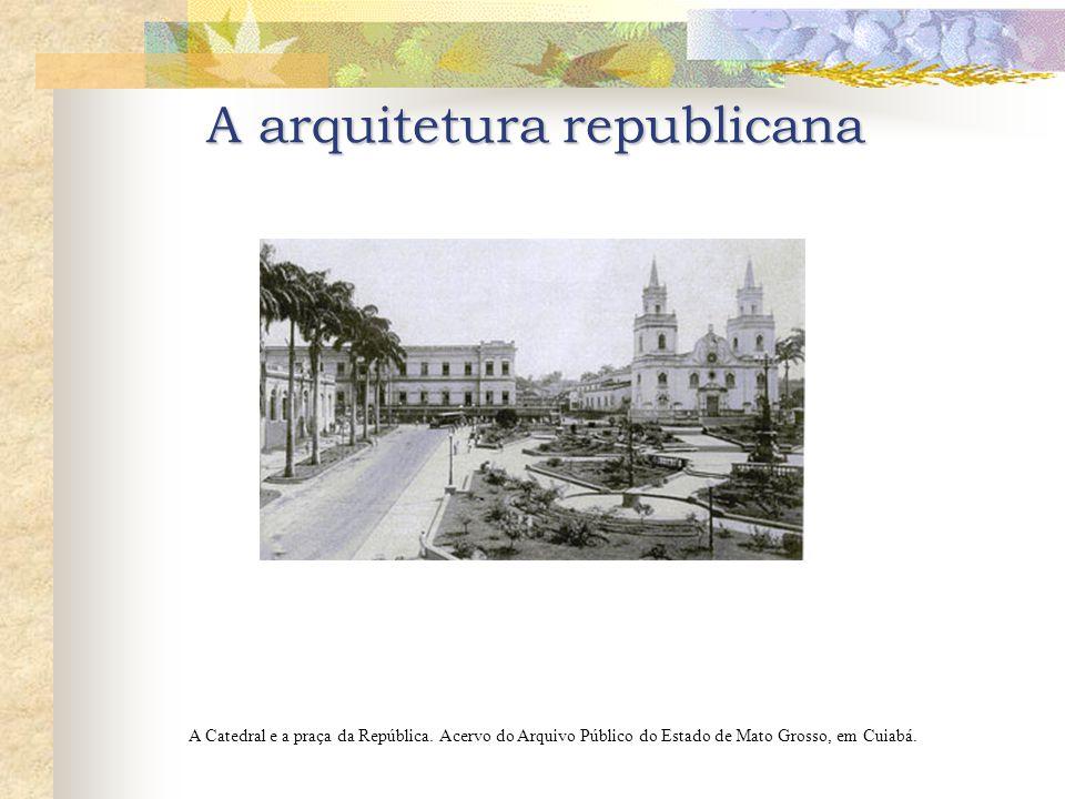 A arquitetura republicana