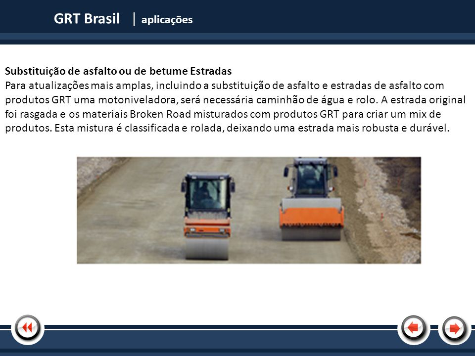 GRT Brasil | aplicações