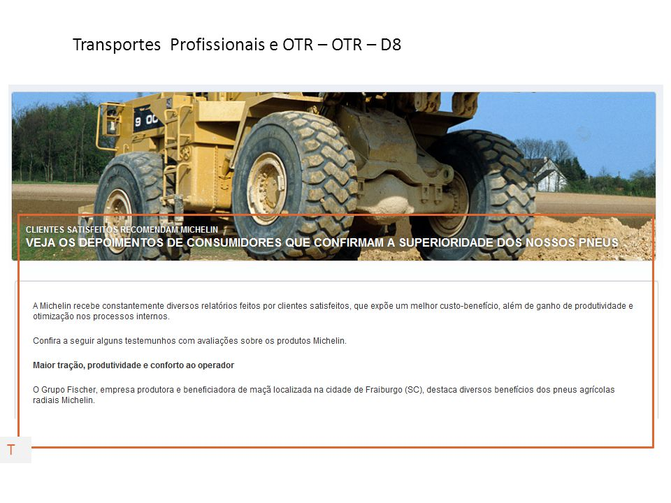 Transportes Profissionais e OTR – OTR – D8