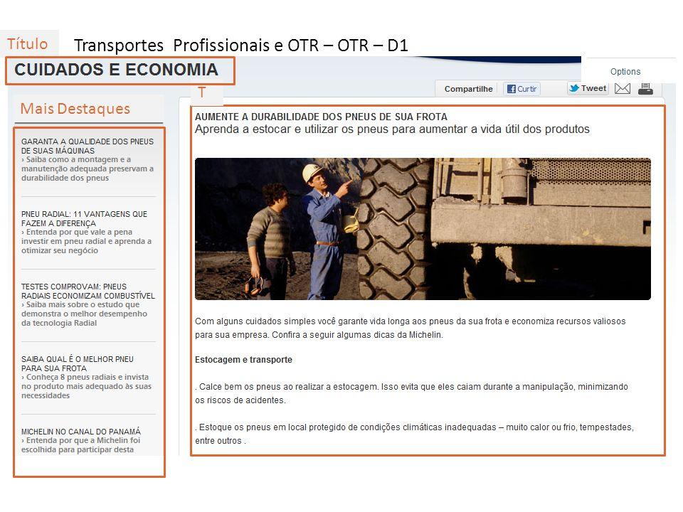 Transportes Profissionais e OTR – OTR – D1
