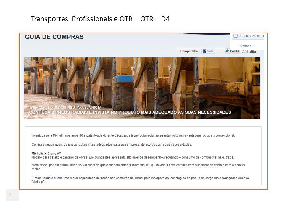 Transportes Profissionais e OTR – OTR – D4