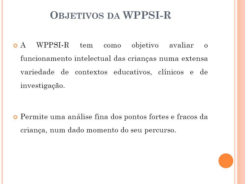 Objetivos da WPPSI-R