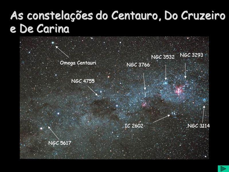 As constelações do Centauro, Do Cruzeiro e De Carina