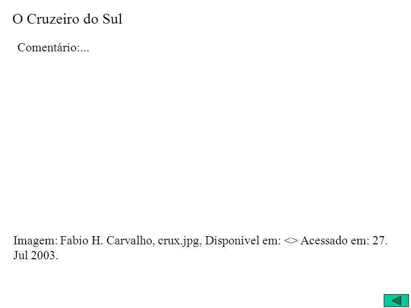 O Cruzeiro do Sul Comentário:...