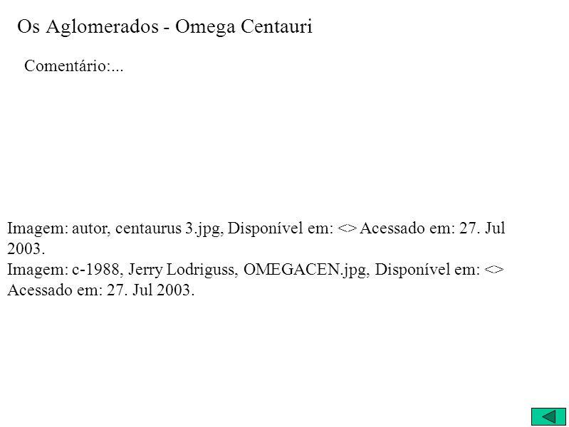 Os Aglomerados - Omega Centauri
