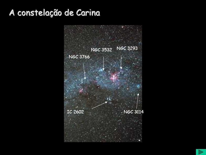 A constelação de Carina