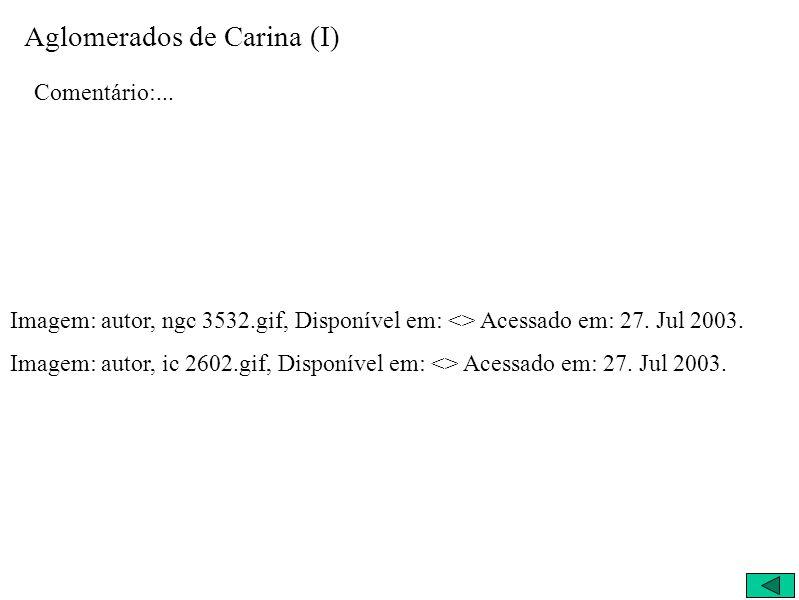 Aglomerados de Carina (I)