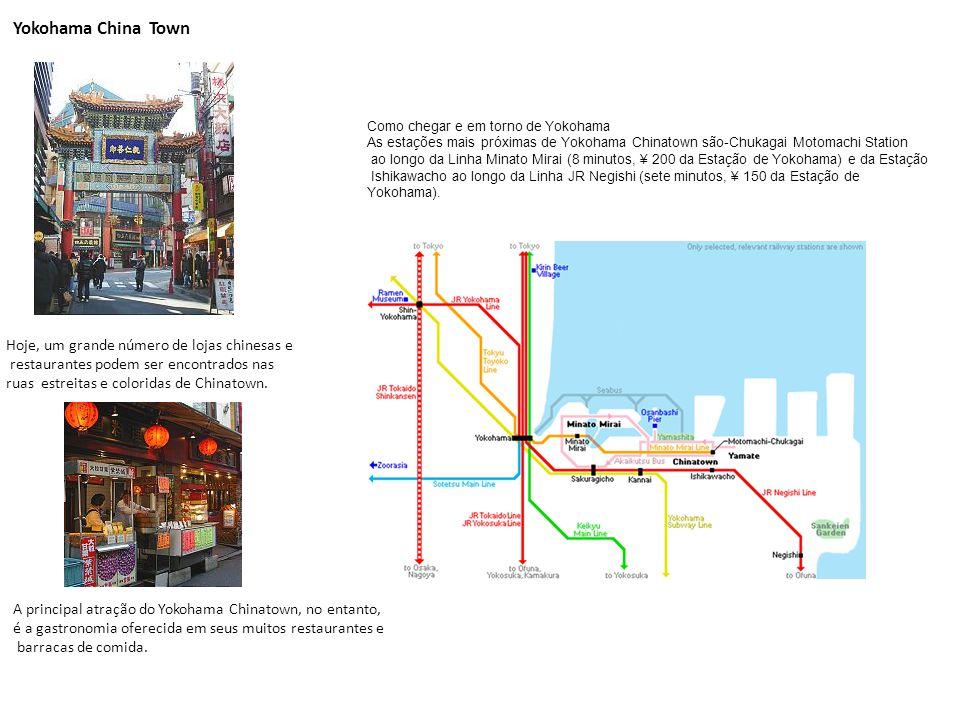 Yokohama China Town Hoje, um grande número de lojas chinesas e