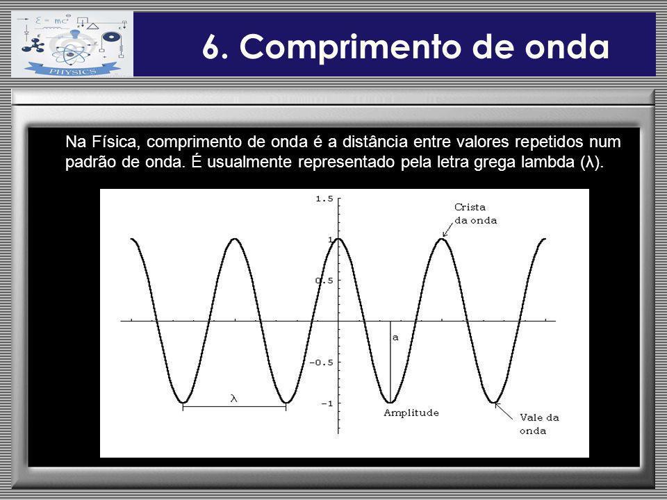 6. Comprimento de onda
