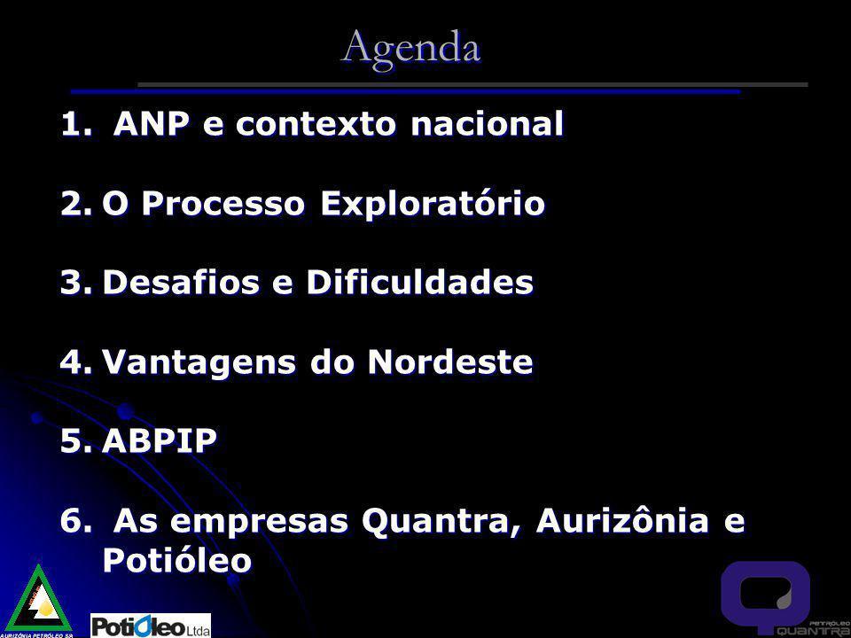 Agenda ANP e contexto nacional O Processo Exploratório