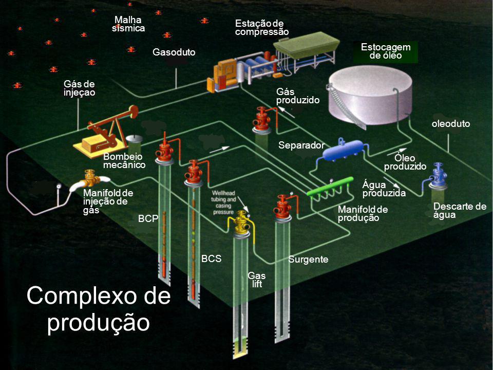 Complexo de produção Malha sísmica Estação de compressão