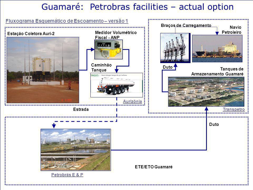 Guamaré: Petrobras facilities – actual option