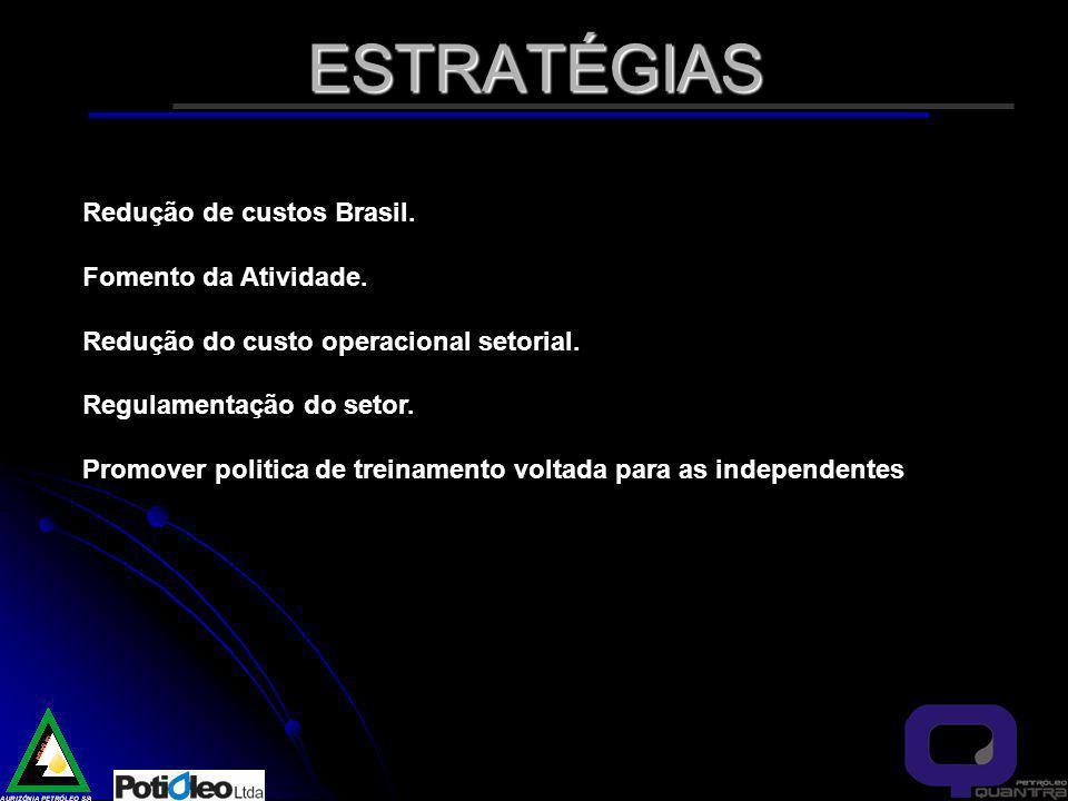ESTRATÉGIAS Redução de custos Brasil. Fomento da Atividade.