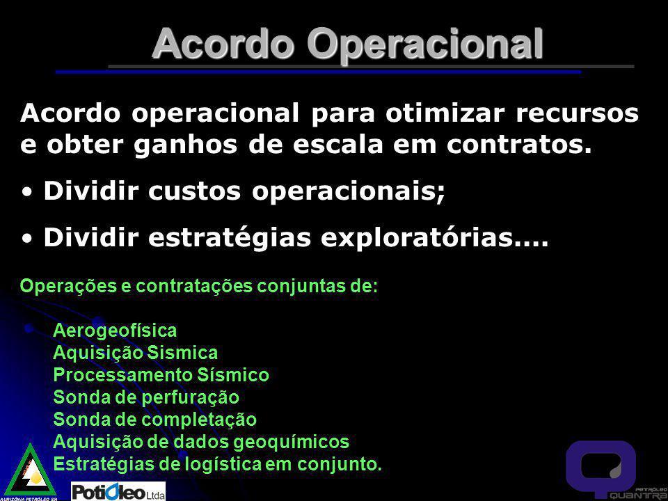 Acordo Operacional Acordo operacional para otimizar recursos e obter ganhos de escala em contratos.
