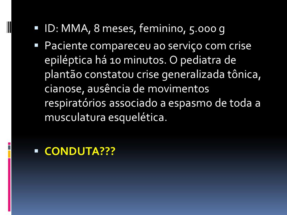 ID: MMA, 8 meses, feminino, 5.000 g
